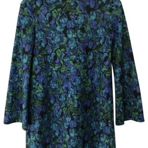 NWOT ZARA BELL SLEEVE FLORAL DRESS M